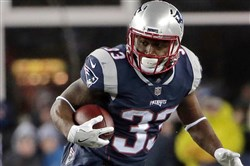 Dion Lewis rushed for 896 yards and scored nine touchdowns for New England this season.