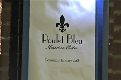 Poulet Bleu from the Richard DeShantz Group opens Tuesday for dinner in Lawrenceville.
