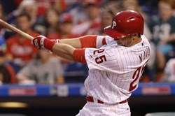 Daniel Nava played for the Philadelphia Phillies last year.