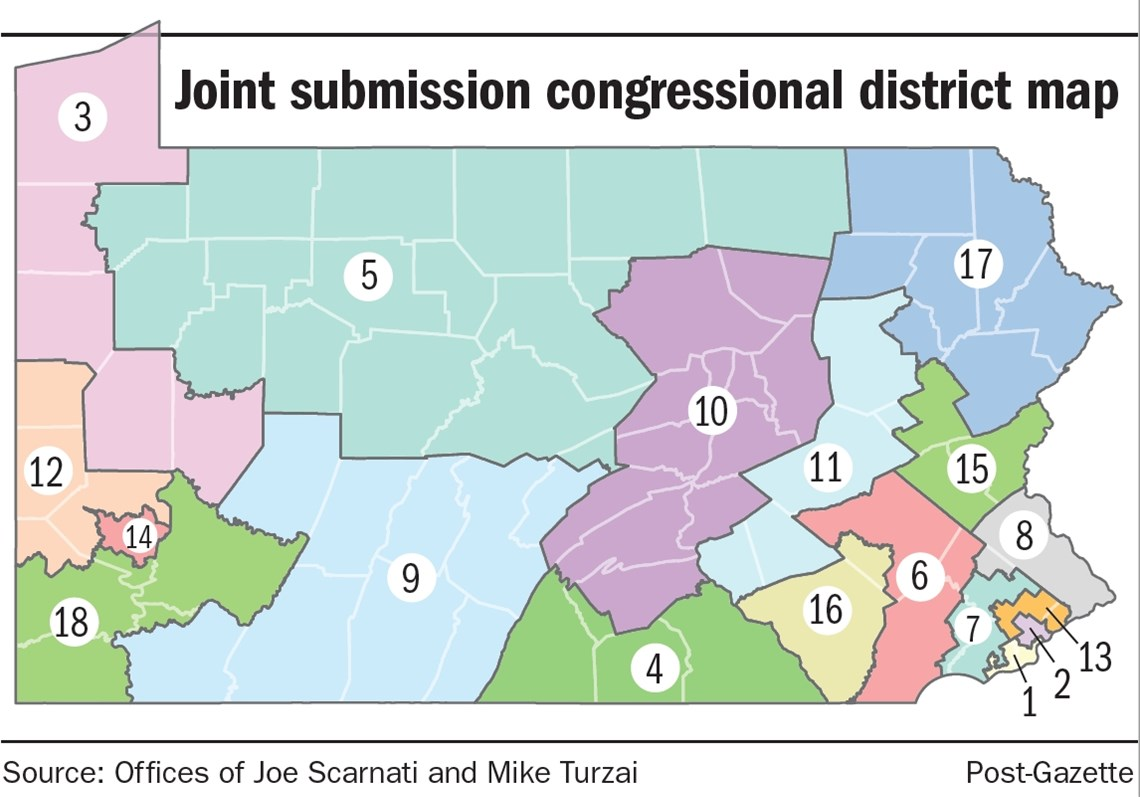 Top Republicans In Pa House Senate Submit Congressional Map To - Map pa