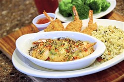Shrimp and More Shrimp at Eat'n Park features shrimp scampi, crispy butterflied shrimp and cocktail sauce.