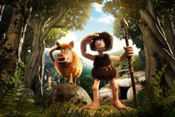 "Hognob (voice of Nick Park) and Dug (voice of Eddie Redmayne) in ""Early Man."""