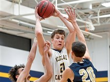 Luke Nedrow, with ball, and the Central Catholic Vikings are the No. 4 seed in the WPIAL Class 6A boys basketball playoffs.