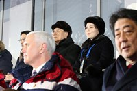 North Korean leader Kim Jong Un's sister, Kim Yo Jong, sits behind Vice President Mike Pence during the Winter Olympics opening ceremony in Pyeongchang, South Korea. Mr. Pence never turned to greet her.