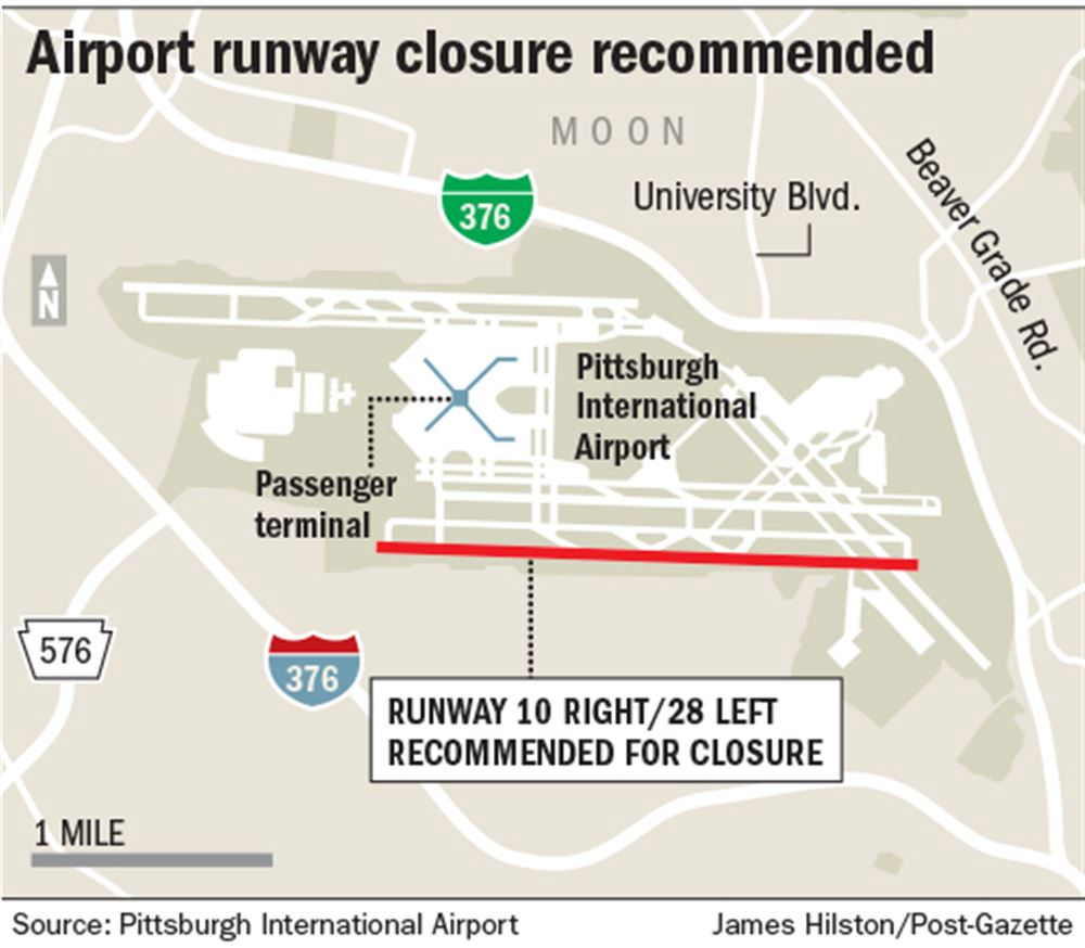 map of pittsburgh airport Pittsburgh Airport Mulls Closing Its Longest Runway Pittsburgh map of pittsburgh airport