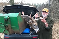 Gary Shreffler of Mt. Lebanon shot his 50th buck, in Hampton on the final day of firearm deer season. The 8-point dropped with a single shot from 60 yards.