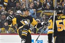Pittsburgh Penguins Ryan Reaves celebrates his goal in the second period against the Kings Thursday, February 15, 2018, at PPG Paints Arena in Pittsburgh.