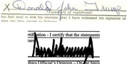 In the top line, Donald John Trump signed this draft deferment document with a readable signature when he was 18. That's a stark difference from the sharp angles he has used as candidate and president.