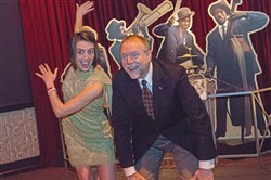 "Andy Masich with his daughter Molly at the ""Uncorked: Roaring '20s"" at the Senator John Heinz History Center."
