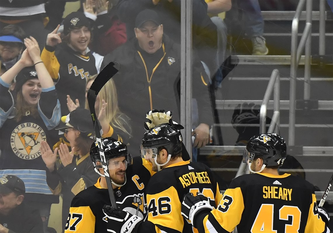 The Penguins\u0027 Zach Aston-Reese celebrates his goal against the Leafs in the second. 2. Penguins slam door ... & Penguins slam door in third to finish Leafs | Pittsburgh Post-Gazette