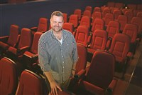 Richard Fosbrink, executive director of the Theatre Historical Society of America, stands inside the Hollywood Theater in Dormont. The society just completed its purchase of the movie house, which was built in 1925.