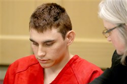 Nikolas Cruz appears in court for a status hearing before Broward Circuit Judge Elizabeth Scherer on February 19, 2018, in Fort Lauderdale, Florida.