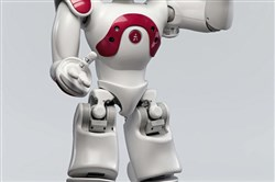The NAO robot listens, speaks, dances and sings.