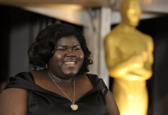 "Actress Gabourey Sidibe arrives at The Academy of Motion Picture Arts and Sciences 2009 Governors Awards on Nov. 14, 2009, in Los Angeles. The August Wilson Center's Black Bottom Film Festival features the Oscar nominee's directorial debut, ""The Tale of Four."""