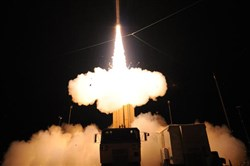 Lockheed Martin conducts a successful flight test of the Terminal High Altitude Area Defense Weapon System at the Pacific Missile Range Facility on Kauai, Hawaii, in 2010.