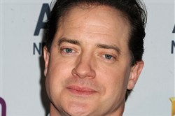 Brendan Fraser attends the 2014 A+E Networks Upfront on May 8, 2014, at Park Avenue Armory in New York City.