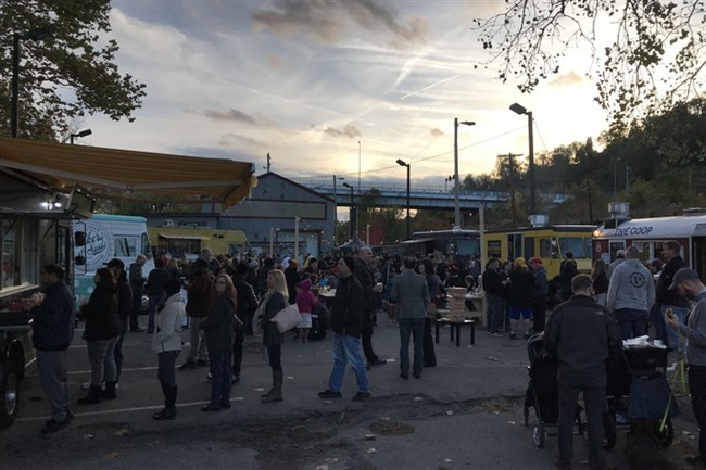 The Pittsburgh Food Truck Park during its preview party in November.