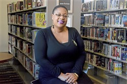 DaVonne Fuller at her family's favorite place: the Hazelwood Public Library.