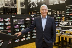 In this Oct. 18, 2016, photo, Chairman and CEO of DICK'S Sporting Goods Edward W. Stack poses for a photo as he visits a new store at the Baybrook Mall in the Houston.