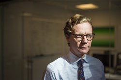 This file photo shows Alexander Nix, chief executive of Cambridge Analytica.
