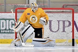 Matt Murray returned to practice Saturday after missing a month because of a concussion.