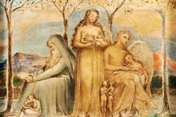 """Faith, Hope, and Charity,"" a 1799 work by William Blake."