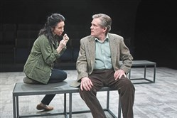 "Robin Abramson and Anthony Heald navigate romantic uncertainty in ""Heisenberg,"" a two-character play at Pittsburgh Public Theater through April 8."