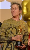 "This file photo shows best-actress winner Frances McDormand backstage at the 90th Academy Awards ceremony March 4, 2018, in Hollywood, Calif. McDormand ended her speech with the words ""inclusion rider."""