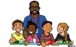 "Drawing of Philando Castile and kids on the ""Philando Feeds the Children"" fundraising page."