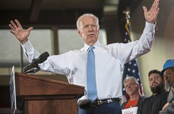 Former Vice President Joe Biden during a visit to Pittsburgh on March 6. Mr. Biden was in town to campaign for Democrat Conor Lamb for the 18th Congressional District.