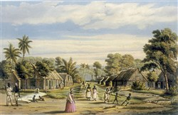 Plantation Settlement, Suriname, circa 1860.