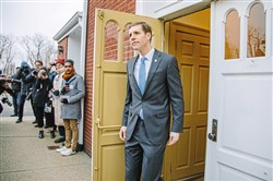 Conor Lamb after voting on Tuesday, March 13.