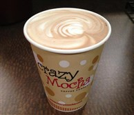 A latte from Crazy Mocha's headquarters on Baum Boulevard in Friendship.