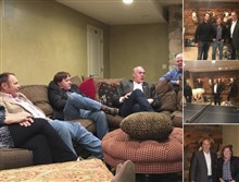 This screenshot of a Twitter post from the page of Keith Mark shows photos of Interior Secretary Ryan Zinke meeting with Donald Trump Jr. and Keith Mark. A new U.S. advisory board created to help rewrite federal rules for importing the heads and hides of African elephants, lions and rhinos is stacked with trophy hunters, including some members with direct ties to President Donald Trump and his family.