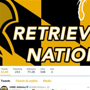 @UMBC Athletics twitter page, Saturday, March 17, 2018 at 4 p.m.