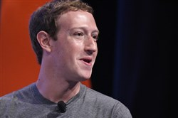 In this file photo taken June 24, 2016, Facebook CEO and founder Mark Zuckerberg speaks during a discussion at the Global Entrepreneurship Summit at Stanford University in Palo Alto, California.