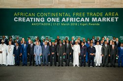 The African Heads of States and Governments pose during African Union Summit for the agreement to establish the African Continental Free Trade Area in Kigali, Rwanda, on March 21, 2018.