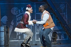 "From left, Aaron Alcaraz and Aaron Harrington in the ""Rent 20th Anniversary Tour"" production headed to Heinz Hall March 27-April 1."