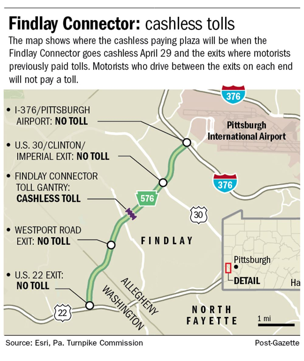 Findlay Connector near airport moving to cashless toll system on ...
