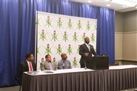 NSBE National Chair Matthew C. Nelson speaks at a press conference at the David L. Lawrence Convention Center Downtown on Thursday morning.