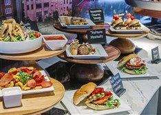 New dishes that will be offered this year in the club level can be seen in Club Cambria during the annual What's new at PNC Park event Monda.