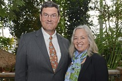 Event chairs Bob and Leslie Nutting at the First Taste of Cuba: The Tropical Forest debut party on Thursday at Phipps Conservatory and Botanical Gardens in Oakland.