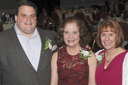 From left, Jordan Pallito, board chairman of the Consortium for Public Education, Sarah Tambucci, former executive director of the Arts Education Collaborative (who received a Special Tribute Award) and Mary Kay Babyak, executive director of the Consortium.