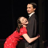 "Westinghouse Arts Academy sophomore Aliya Pimental, 15, of Mt. Pleasant as Polly and senior Matthew Hommel, 18, of Monroeville, as Bobby, in ""Crazy for You."""