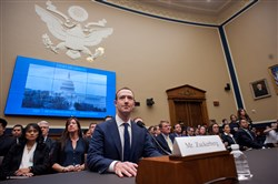 Facebook CEO Mark Zuckerberg appears before the House Energy and Commerce Committee in Washington on April 11, 2018.