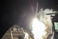 The U.S. launches cruise missiles into Syria a year ago in response to a chemical attack by the Syrian government on rebel-held areas.