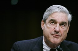Robert Mueller on February 16, 2011, as he testifies before a Senate Intelligence Committee hearing in Washington.