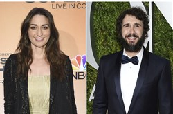 Sara Bareilles and Josh Groban will host the 72nd annual Tony Awards on June 10.