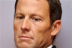 In this file photo taken February 28, 2011, then seven-time Tour de France winner Lance Armstrong attends a press conference in Los Angeles.