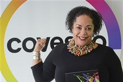 Dina Clark, head of diversity and inclusion for Covestro, at her office on Friday, April 20, 2018 in Robinson.